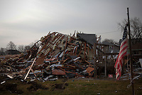 A House is seen in Union Beach, One month after been affected by the hurricane Sandy in New York, United States. 29/11/2012. Photo by Kena Betancur/VIEWpress.