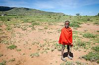 A Maasai boy in Maji Moto