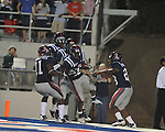 Ole Miss wide receiver Jesse Grandy (10) returns a punt 51 yards for a touchdown in the third quarter at Vaught-Hemingway Stadium in Oxford, Miss. on Saturday, September 25, 2010. Ole Miss won 55-38.