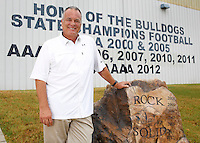 NWA Democrat-Gazette/DAVID GOTTSCHALK - Rick Jones, head football coach at Greenwood High School, outside the football facility on the campus of the Greenwood School District Tuesday, June 16, 2015. Jones has lead his teams to six state championship wins and was 2012 Football Coach of the Year by the National Federation of State High School Associations.