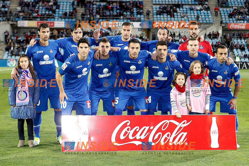 Getafe's team photo with Juan Valera, Michel, Alberto Lopo, Alexis Ruano, Miguel Angel Moya, Jaime Gavilan, Paco Alcocer, Xavi Torres, Pedro Leon, Mane Jimenez and Diego Castro during La Liga match.November 18,2012. (ALTERPHOTOS/Acero) .Madrid 18/11/2012 .Football Calcio 2012/2013 La Liga.Getafe Vs Valladolid.Foto Insidefoto.ITALY ONLY