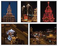 Plaza Christmas Lights Note Card set