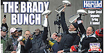 Boston Herald wrapper from New England Patriots Super Bowl 51 victory parade through Boston.