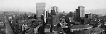 Pittsburgh PA: View of City from the top of the Empire Building. View of the city looking up Liberty Avenue and Fifth Avenue. Henry Oliver, Frick and Arrott Buildings dominate the skyline - 1904. Company signs on city buildings included: C.A. Verner Shoes, Germania Savings Bank, Home Trust Company of Pittsburgh, JC Lindsay Hardware Company, JG Lauer Toys, JR Weldin & Company Stationery, John Wallace Produce, Lyle Bros Hardware, Monogahela National Bank, Pittsburgh Coal company sign, Renwick Bros Wholesale Millinery, Rosenbaum Company, Solomon's Outfitters, The German Fire Insurance Company, children, and the Peoples Savings Bank
