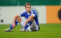 FUSSBALL   DFB POKAL    SAISON 2012/2013    ACHTELFINALE FC Schalke 04 - FSV Mainz 05                          18.12.2012 Benedikt Hoewedes (FC Schalke 04) ist nach dem Abpfiff enttaeuscht