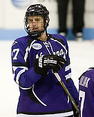 Jeff Hannan (Niagara - 27) - The visiting Niagara University Purple Eagles defeated the Northeastern University Huskies 4-1 on Friday, November 5, 2010, at Matthews Arena in Boston, Massachusetts.