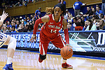 28 November 2014: Stony Brook's Miranda Jenkins. The Duke University Blue Devils hosted the Stony Brook University Seahawks at Cameron Indoor Stadium in Durham, North Carolina in a 2014-15 NCAA Division I Women's Basketball game. Duke won the game 72-42.