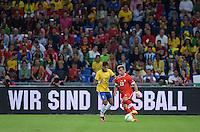 FUSSBALL  INTERNATIONAL  Testspiel Schweiz - Brasilien    14.08.2013 Wir sind Fussball! Xherdan SHAQIRI (re, Schweiz) gegen NEYMAR (Brasilien)