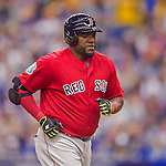 2 April 2016: Boston Red Sox designated hitter David Ortiz in action during a pre-season exhibition game against the Toronto Blue Jays at Olympic Stadium in Montreal, Quebec, Canada. The Red Sox defeated the Blue Jays 7-4 in the second of two MLB weekend games, which saw a two-game series attendance of 106,102 at the former home on the Montreal Expos. Mandatory Credit: Ed Wolfstein Photo *** RAW (NEF) Image File Available ***