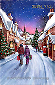 Christmas - landscapes paintings