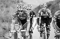 Team Trek-Segafredo winter training camp with Alberto Contador up the rainy Tiede Volcano in Tenerife<br /> <br /> january 2017, Tenerife/Spain