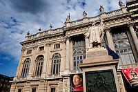 Filippo Juvarra's 18th Century façade of the Palazzo Madama palace in Turin (Italy, 18/06/2010)