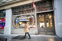Luxottica's Ray-Ban flagship store in Soho in New York on Tuesday, January 17, 2017. Essilor International SA. a French lensmaker, will buy the Italian Luxottica Group SpA in a deal worth $24 billion. (© Richard B. Levine)