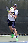 21 April 2016: Notre Dame's Alex Lawson. The University of Notre Dame Fighting Irish played the Duke University Blue Devils at the Cary Tennis Center in Cary, North Carolina in the first round of the Atlantic Coast Conference Men's Tennis Tournament. Notre Dame won the match 4-1.