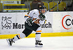 25 October 2008: University of Vermont Catamount defenseman Saleah Morrison, a Sophomore from Selkirk, Manitoba, in action against the Cornell University Big Red at Gutterson Fieldhouse, in Burlington, Vermont. The Big Red defeated the Catamounts 5-1 to sweep their 2-game series in Vermont...Mandatory Photo Credit: Ed Wolfstein Photo