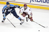 Ryan Hegarty (Maine - 44), Chris Kreider (BC - 19) - The Boston College Eagles defeated the visiting University of Maine Black Bears 4-0 on Friday, November 19, 2010, at Conte Forum in Chestnut Hill, Massachusetts.