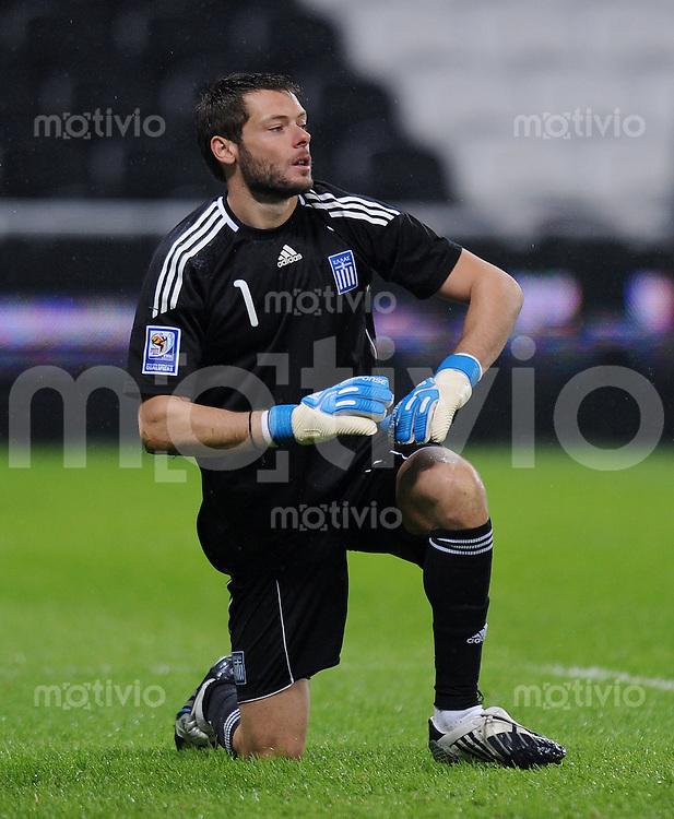 Fussball International   WM  2010  Play Off    18.11.2009 Ukraine - Griechenland GRE Torwart Alexandros TZORVAS