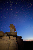 Night sky over the Bighorn Basin of Wyoming
