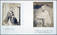 BNPS.co.uk (01202 558833)<br /> Pic: Reeman&amp;Dansie/BNPS<br /> <br /> Sir Robert Napier and Sir Hope Grant the British commander.<br /> <br /> Rare photos showing some of the precious antiques looted from China's Summer Palace 156 years ago which Asian millionaires are today buying back in their droves have come to light.<br /> <br /> The images, taken by celebrated photographer Felice Beato soon after the theft, depict Ming vases, pots and bowls made for the Chinese emperor to display at the Imperial palace in Peking.<br /> <br /> The mystical building was partially destroyed by the British and French and its wealth of contents seized and taken to Europe at the end of the Second Chinese Opium War in 1860.<br /> <br /> The beautiful pieces of porcelain are the very objects the newly-rich Chinese are paying British auction houses millions of pounds for now as they attempt to buy back their lost heritage.