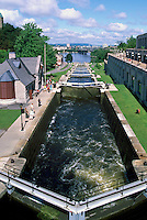'Ottawa Locks' on Rideau Canal, Rideau Canal National Historic Site (UNESCO World Heritage Site and Canadian Heritage River), in the City of Ottawa, Ontario, Canada