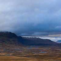 View north of Alisvaggi valley from near Tjaktja hut, Kungsleden trail, Lapland, Sweden
