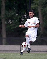 Boston College defender/forward Kevin Mejia (12). Boston College defeated Quinnipiac, 5-0, at Newton Soccer Field, September 1, 2011.