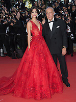 Fawaz Gruosi &amp; Sara Sampaio at the premiere for &quot;Ismael's Ghosts&quot; at the opening ceremony of the 70th Festival de Cannes, Cannes, France. 17 May 2017<br /> Picture: Paul Smith/Featureflash/SilverHub 0208 004 5359 sales@silverhubmedia.com