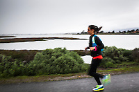 Training for a marathon means running.  Rain or shine, you run.