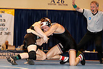 12 MAR 2011: John Sundgren of St. Cloud State wrestles Dillon Bera of Wisconsin-Parkside during the Division II Wrestling Championship held at the Health and Sports Center at the University of Nebraska-Kearney in Kearney, NE.  Sundgren defeated  Bera 4-0 for the national 157 pound title. Scott Anderson/NCAA Photos