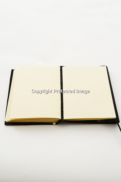 Stock photo of a blank book and pages