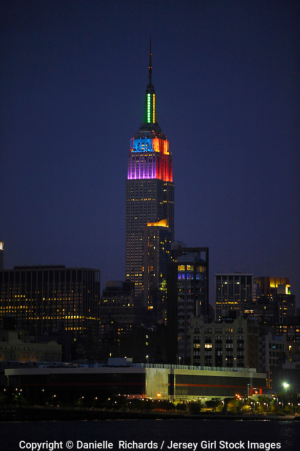 Empire State Building lit to commemorate passage of Marriage Equality Act, June 25, 2011, the day Gov. Cuomo signed the bill.