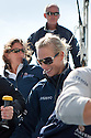 10th August 2011. Cowes. Isle of Wight..Pictures showing Zara Phillips, Dee Caffari and Mark Tyndall onboard Artemis Ocean Racing, skippered by record-breaking yachtswoman Dee Caffari...The Artemis Challenge round the Island race...Aberdeen Asset Management Cowes Week 2011...Credit: Lloyd Images.