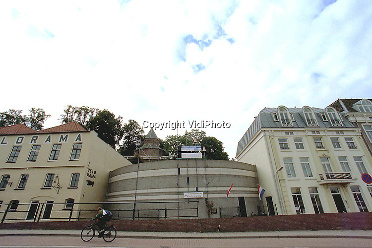 Foto: VidiPhoto..NIJMEGEN - De buitenzijde van de Stratenmakerstoren in Nijmegen.