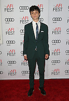 "Hollywood, CA - NOVEMBER 16: Lucas Jade Zumann, At AFI FEST 2016 Presented By Audi - A Tribute To Annette Bening And Gala Screening Of A24's ""20th Century Women"" At The TCL Chinese Theatre, California on November 16, 2016. Credit: Faye Sadou/MediaPunch"