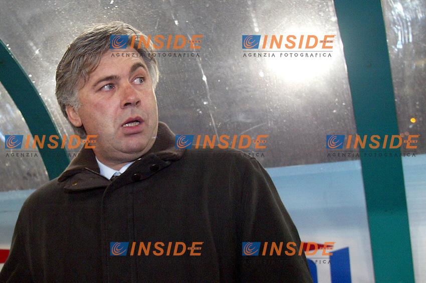 Roma 6/1/2004 Roma - Milan 1-2<br /> Carlo Ancelotti Milan trainer<br /> Photo Andrea Staccioli / Insidefoto