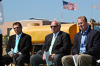 May 30 2008.  Liberty Station, Point Loma, CA, USA.  Scott McMillin of McMillin Construction, San Diego City Mayor Jerry Sanders and Councilmember (District 2) Kevin Faulconer attend a ground breaking ceremony for Phase 2 of the NTC Park development at Liberty Station.   The 28 acre park will include landscape for passive uses, two large picnic areas, benches & barbeques, restrooms, a playground, walking trails, large open spaces and open spaces.  It is anticipated to be completed by Summer 2009.