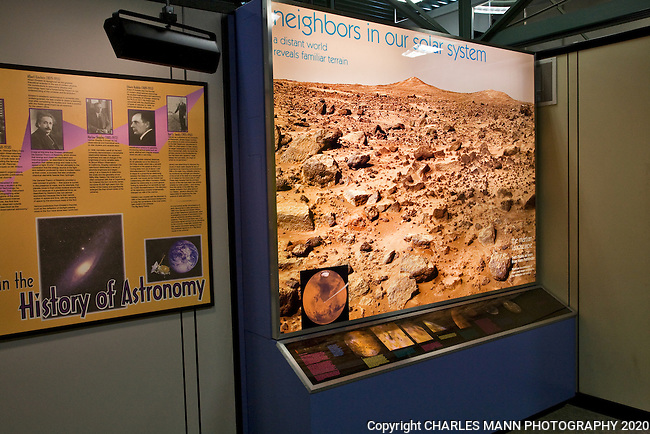 The Sunspot Astronomy and Visitor's Center at the National Solar Observatory in Sunspot near Cloudcroft, New Mexico, features displays about the sun and the solar system.