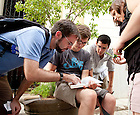 Sept. 4, 2011; School of Architecture students look at a guide book while on a research trip to Havana, Cuba...Photo by Matt Cashore/University of Notre Dame