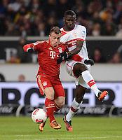 FUSSBALL   1. BUNDESLIGA  SAISON 2012/2013   19. Spieltag   VfB Stuttgart  - FC Bayern Muenchen      27.01.2013 Xherdan Shaqiri (li, FC Bayern Muenchen)  gegen Antonio Ruediger (VfB Stuttgart)