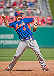 6 April 2015: New York Mets third baseman David Wright warms up for the Season Opening Game against the Washington Nationals at Nationals Park in Washington, DC. The Mets rallied to defeat the Nationals 3-1 in their first meeting of the 2015 MLB season. Mandatory Credit: Ed Wolfstein Photo *** RAW (NEF) Image File Available ***