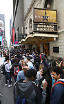 "High School students attend The Rockefeller Foundation and The Gilder Lehrman Institute of American History sponsored High School student #EduHam matinee performance of ""Hamilton"" at the Richard Rodgers Theatre on 5/10/2017 in New York City."
