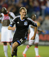 Santa Clara, Ca - Sunday, April 21, 2013: The San Jose Earthquakes tie the Portland Timbers 1-1 at Buck Shaw Stadium.