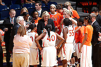 SAN ANTONIO, TX - NOVEMBER 19, 2010: The Texas Christian University Horned Frogs vs. The University of Texas at San Antonio Roadrunners Women's Basketball at the UTSA Convocation Center. (Photo by Jeff Huehn)