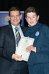 St Johnstone FC Youth Academy Presentation Night at Perth Concert Hall..21.04.14<br /> Chairman Steve Brown presents to Patrick Brown<br /> Picture by Graeme Hart.<br /> Copyright Perthshire Picture Agency<br /> Tel: 01738 623350  Mobile: 07990 594431