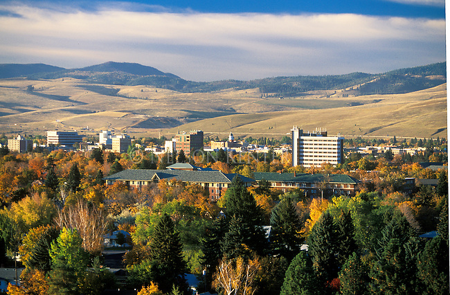 The Missoula, Montana valley in fall colors