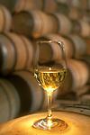 Chardonnay glass in winery