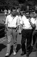 Roma  25 Giugno 1994<br /> Massimo  D'Alema e Walter Veltroni del  Partito Comunista Italiano alla Manifestazione contro la legge Mamm&igrave;