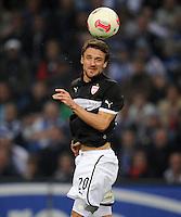 FUSSBALL   1. BUNDESLIGA    SAISON 2012/2013    8. Spieltag   Hamburger SV - VfB Stuttgart            21.10.2012 Christian Gentner (VfB Stuttgart) Einzelaktion am Ball