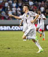 CARSON, CA - June 23, 2012: LA Galaxy forward celebrates his goal during the LA Galaxy vs Vancouver Whitecaps FC match at the Home Depot Center in Carson, California. Final score LA Galaxy 3, Vancouver Whitecaps FC 0.