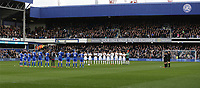 The players line up for a minutes applause for the players of the 1967 QPR League Cup winning team who have passed away<br /> <br /> Photographer /Rob NewellCameraSport<br /> <br /> The EFL Sky Bet Championship - Queens Park Rangers v Cardiff City - Saturday 4th March 2017 - Loftus Road - London<br /> <br /> World Copyright &copy; 2017 CameraSport. All rights reserved. 43 Linden Ave. Countesthorpe. Leicester. England. LE8 5PG - Tel: +44 (0) 116 277 4147 - admin@camerasport.com - www.camerasport.com